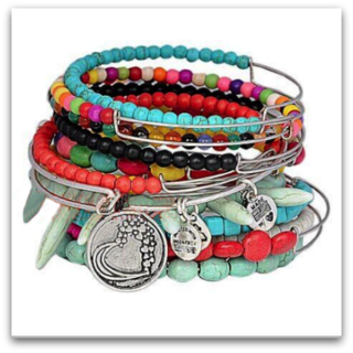 Colourful Stacking Bangles