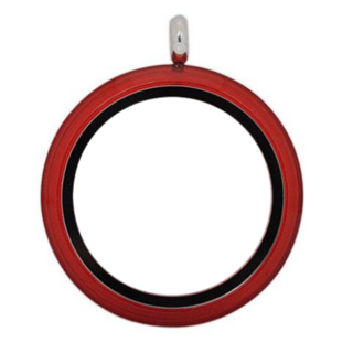 Large Red Twist Living Locket