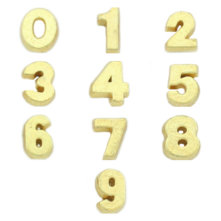 Gold Number Charms