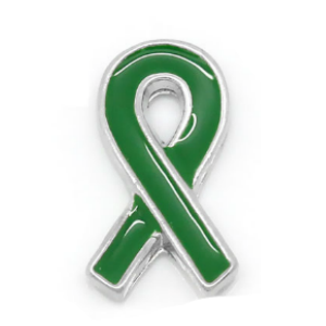 Green Awareness Ribbon Charm
