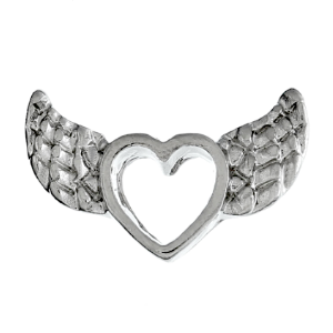 Angel Wings & Heart Charm