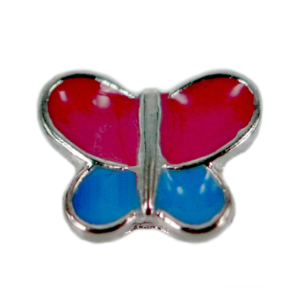 Pink and Blue Butterfly Charm