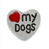 Love My Dogs Charm - Red Heart