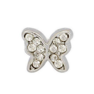 Crystal Butterfly Charm