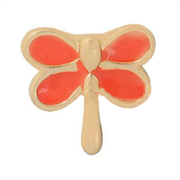 Gold and Orange Dragonfly Charm