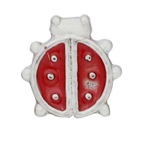 Red and Silver Ladybird Charm