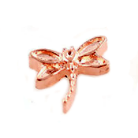 Rose Gold Dragonfly Charm