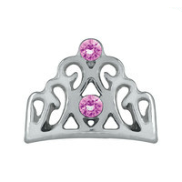 Crown with Pink Crystals Charm
