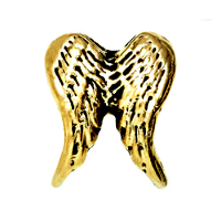 Gold Angel Wings Charm