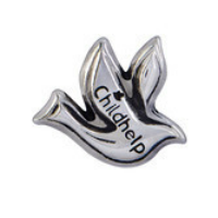 Silver Childhelp Dove Charm