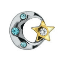 Silver Moon & Gold Star Charm