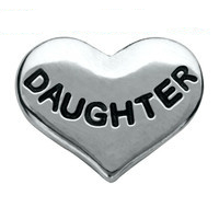 Silver Daughter Heart Charm