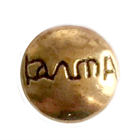Rose Gold Karma Charm