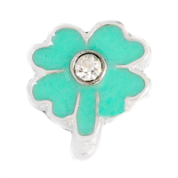 Shamrock Charm with Crystal Accent