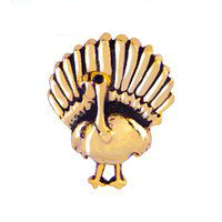 Gold Turkey Charm