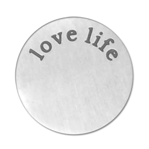 Stainless Steel Living Locket Faceplate - love life