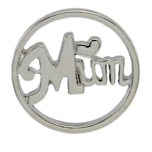 Silver tone Living Locket Faceplate - Mum