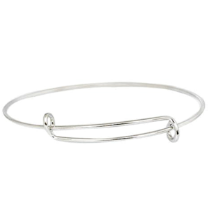Silver Plated Oli & Ama Bangle