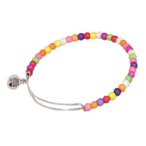 Adjustable Silver Stacking Bangle & Colourful Gemstones
