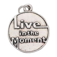 Silver Live in the Moment Dangle Charm