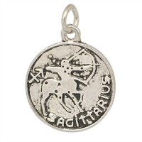 Silver Zodiac Dangle Charm - Sagittarius
