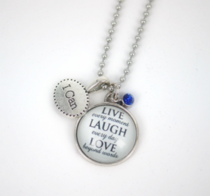 LIVE-LAUGH-LOVE Pendant Cluster