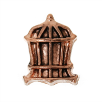 Rose Gold Birdcage Charm
