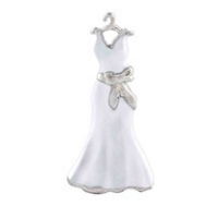 White Wedding Dress Charm