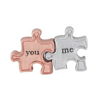 You & Me Puzzle Pieces Charm