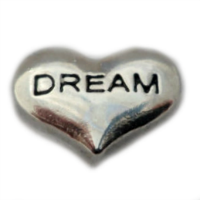 Silver Dream Heart Charm