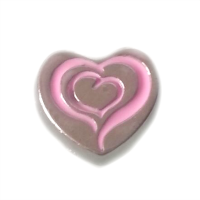 Pink Swirly Heart Charm