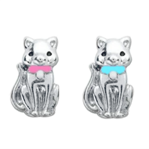 Pink or Blue Cat Charm