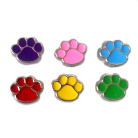 Coloured Dog Paw Charm - 6 colours