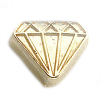 Light Gold Diamond Charm