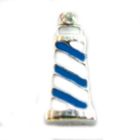 Blue & White Lighthouse Charm