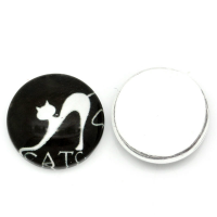 White Cat Dome Charm