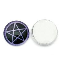 Purple Star Dome Charm