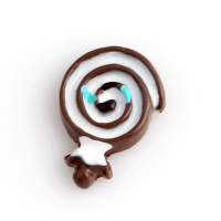 Chocolate Resin Lollipop Charm