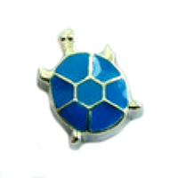 Silver & Blue Turtle Charm