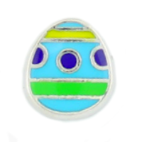 Easter Egg Charm - Blue & Green