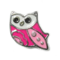 Pink Baby Owl Charm