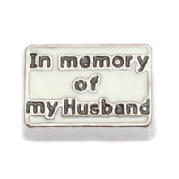 In Memory of My Husband Charm