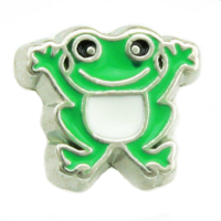 Happy Green Frog Charm