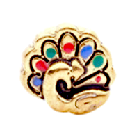 Gold Peacock Charm
