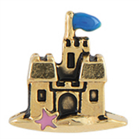 Gold Disney Castle Charm