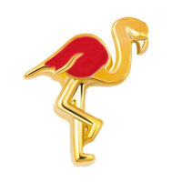 Gold & Red Flamingo Charm
