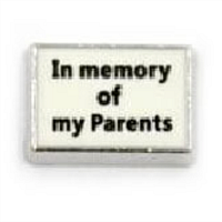In Memory of My Parents Charm