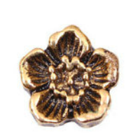 Antique Gold Flower Charm
