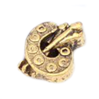 Antique Gold Artist's Palette Charm