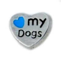 Love My Dogs Charm - Blue Heart